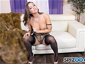Solo getting off with super-naughty Abigail Mac