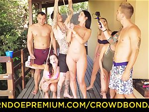 CROWD bondage Outdoor pool fuckfest for steaming Loren Minardi
