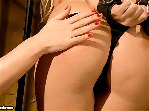 Kathia Nobili horny prison guard tormenting a super hot stunner